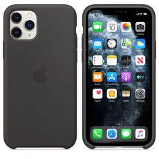 Apple iPhone 11 Pro Silicone Back Case Cover - Black