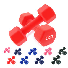 Respire Fitness Neoprene Dumbbell Set Pair 1KG-10KG