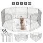 Pet Adore 8 Panel Pet Playpen Cage For Dog Puppy Rabbits Guinea Pigs Indoor / Outdoor - 61CM