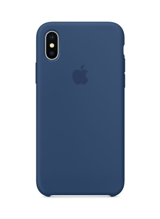 Official Apple iPhone X iPhone XS Silicone Back Case Cover - Cobalt Blue