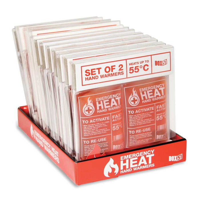 Emergency Heat Handwarmers -  Pack of 2