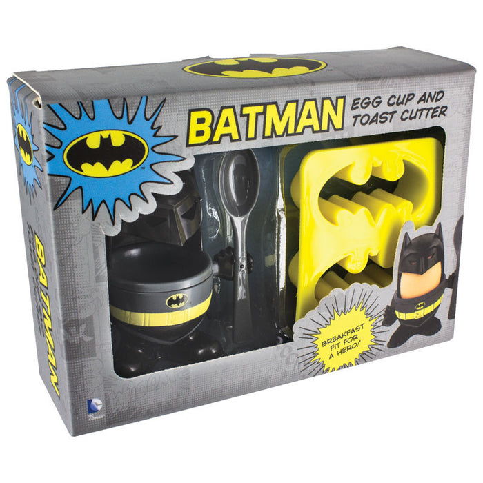 DC Comics Batman Egg Cup and Toast Cutter - Gift