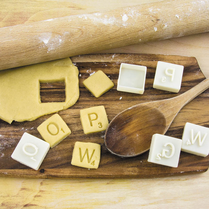 Toy Box Scrabble Cookie Cutters - Gift