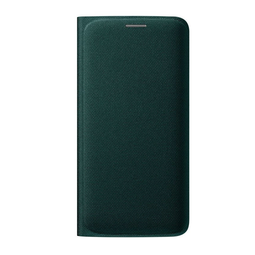 info for bc203 4d0e5 Official Samsung Galaxy S6 Edge Flip Wallet Fabric Cover - Green