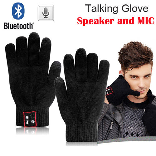 Touch Screen Bluetooth 3.0 Talking Gloves Mobile Headset Speaker For Smart Phone