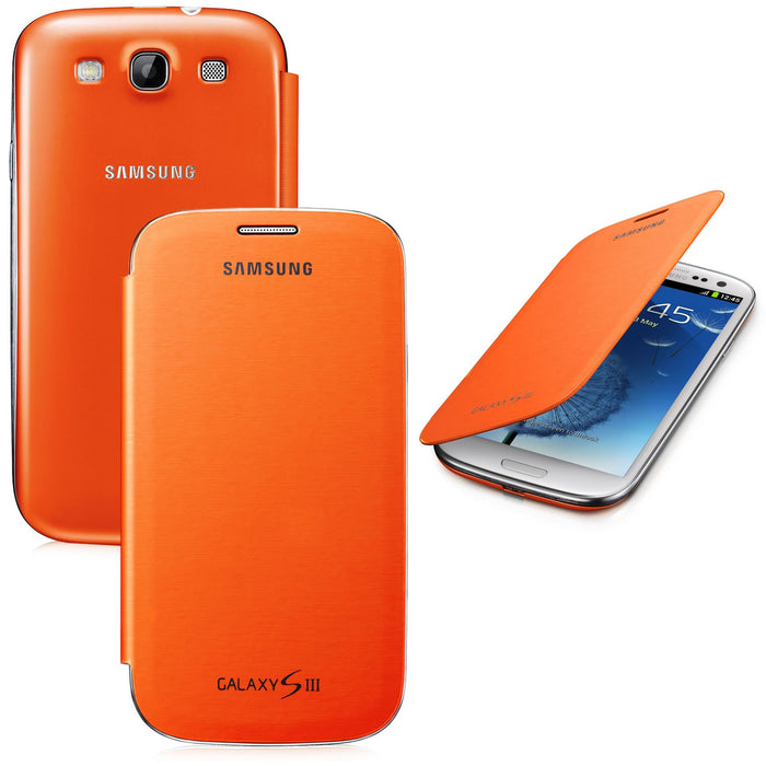Official Samsung Galaxy S3 Flip Case Cover Orange - EFC-1G6FOEC