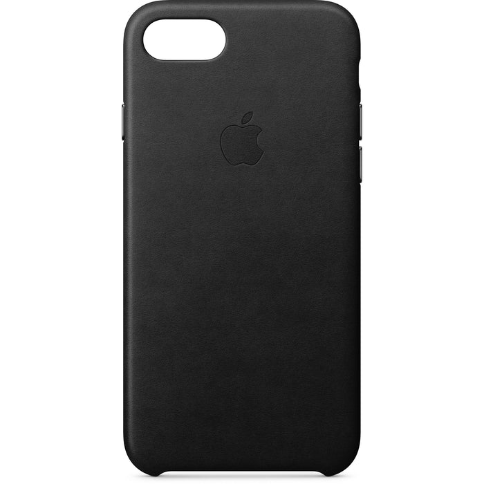 Official Apple iPhone 7 / 8 / SE 2020 Leather Back Case Cover - Black