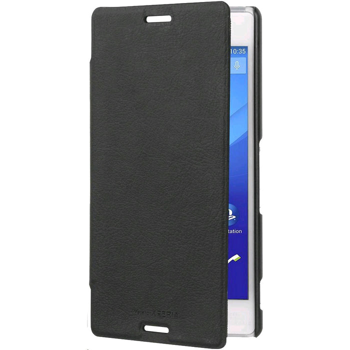 Official Roxfit Sony Xperia M4 Aqua Slim Book Case - Black