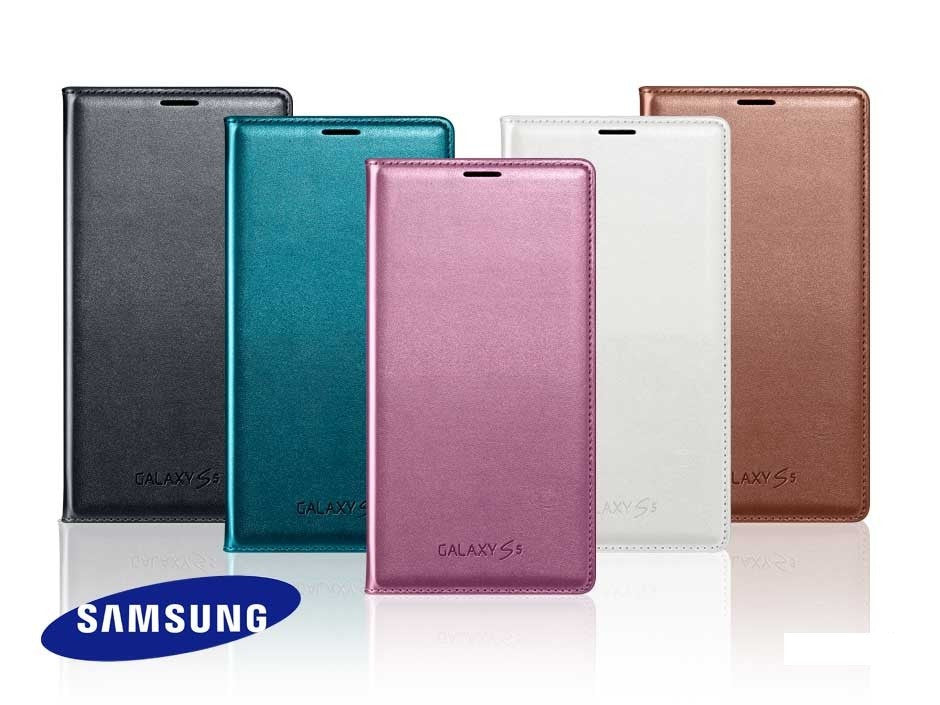 best loved 1a0ae 57ad6 Official Samsung Galaxy S5 Flip Wallet Case Cover G900