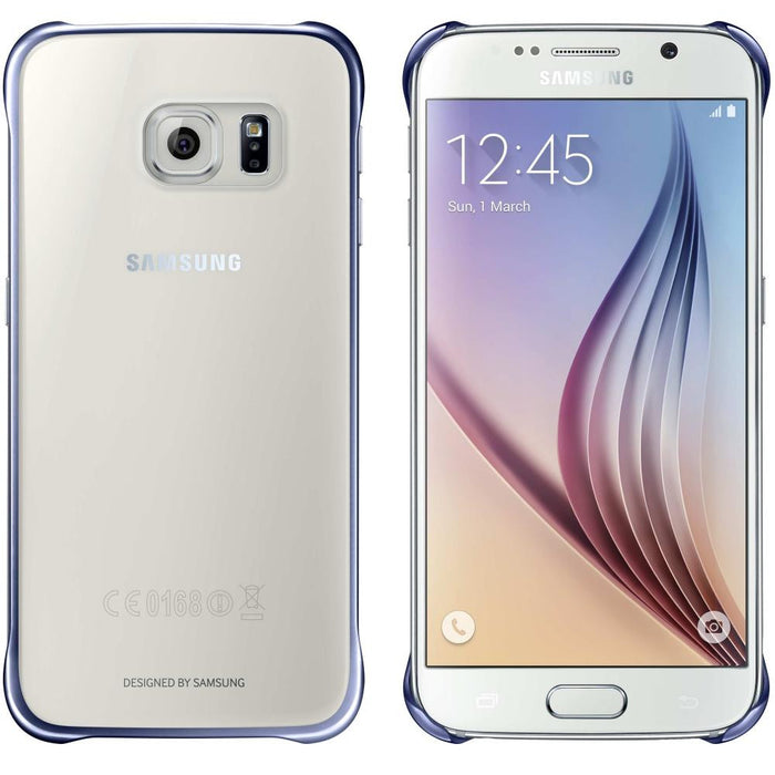 new arrival 31714 09581 Official Samsung Galaxy S6 Edge Clear Cover Case - Silver