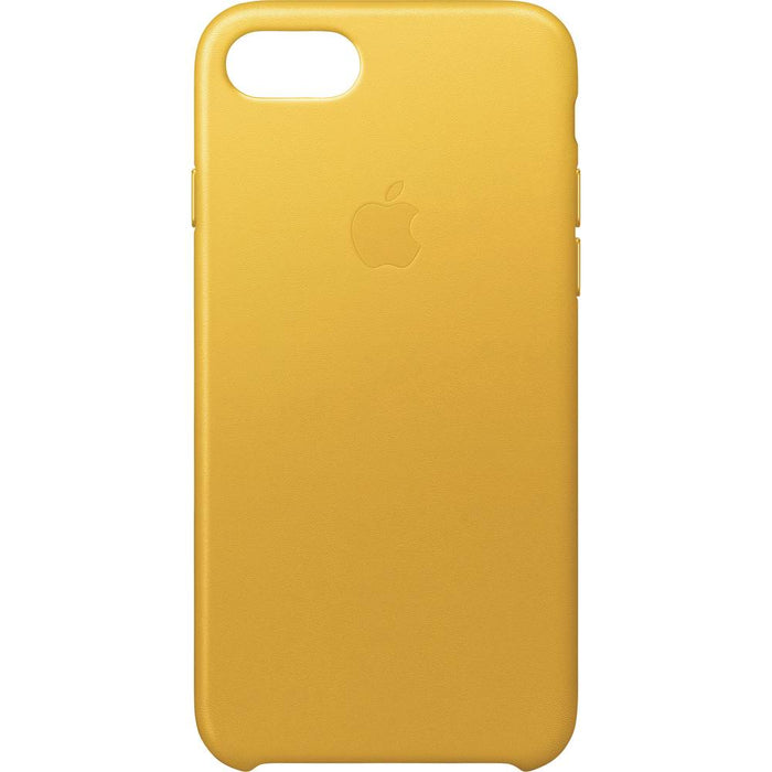1b286c0124 Official Apple iPhone 7 8 Leather Back Case Cover - Sunflower Yellow — Doohickey  Hut