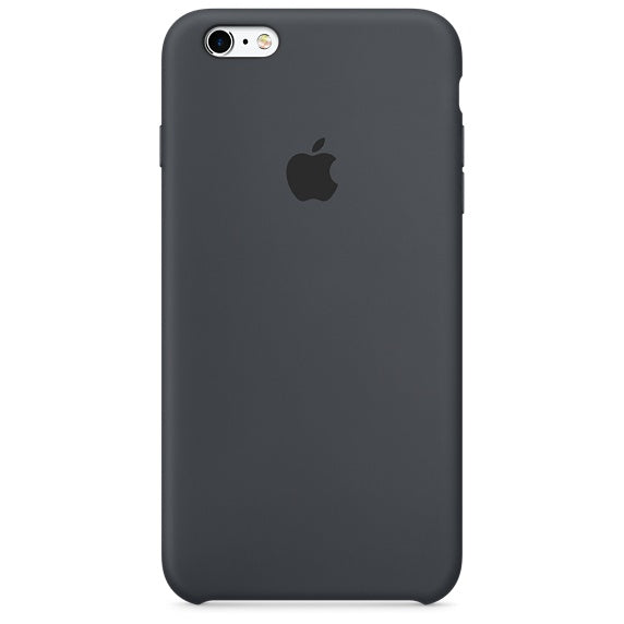 finest selection 0372a 6e406 Genuine Apple iPhone 6 Plus iPhone 6S Plus Silicone Back Case Cover - Black