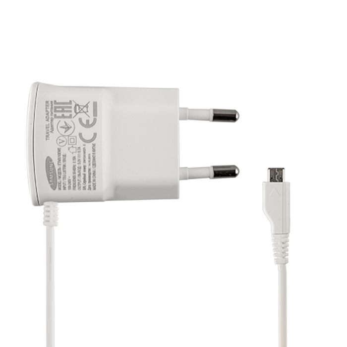 Official Samsung Micro USB Mains EU Travel 2 Pin Charger - ETAOU10EWE