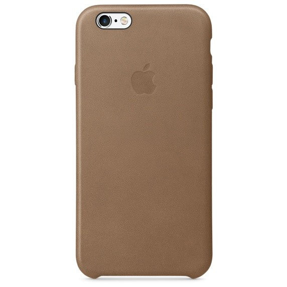 Official Apple iPhone 6 6S Leather Back Case Cover - Brown