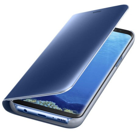 wholesale dealer 95e03 a5be6 Official Samsung Galaxy S8 Clear View Flip Back Cover Case Blue