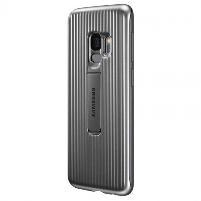 Official Samsung Galaxy S9+ Plus Protective Stand Back Cover Case - Grey