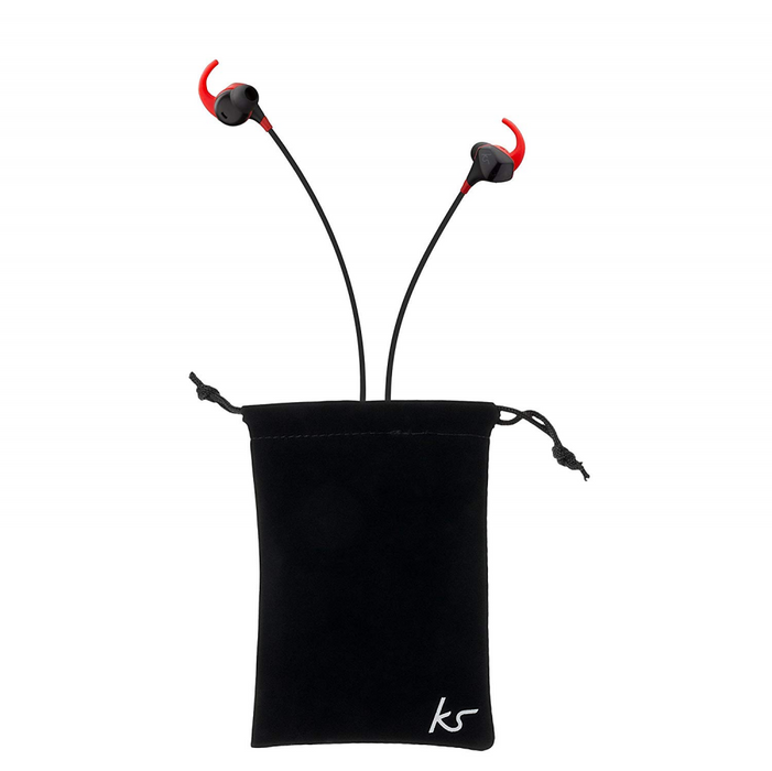 KitSound Immerse Noise Cancelling Wireless Headphones Black/Red
