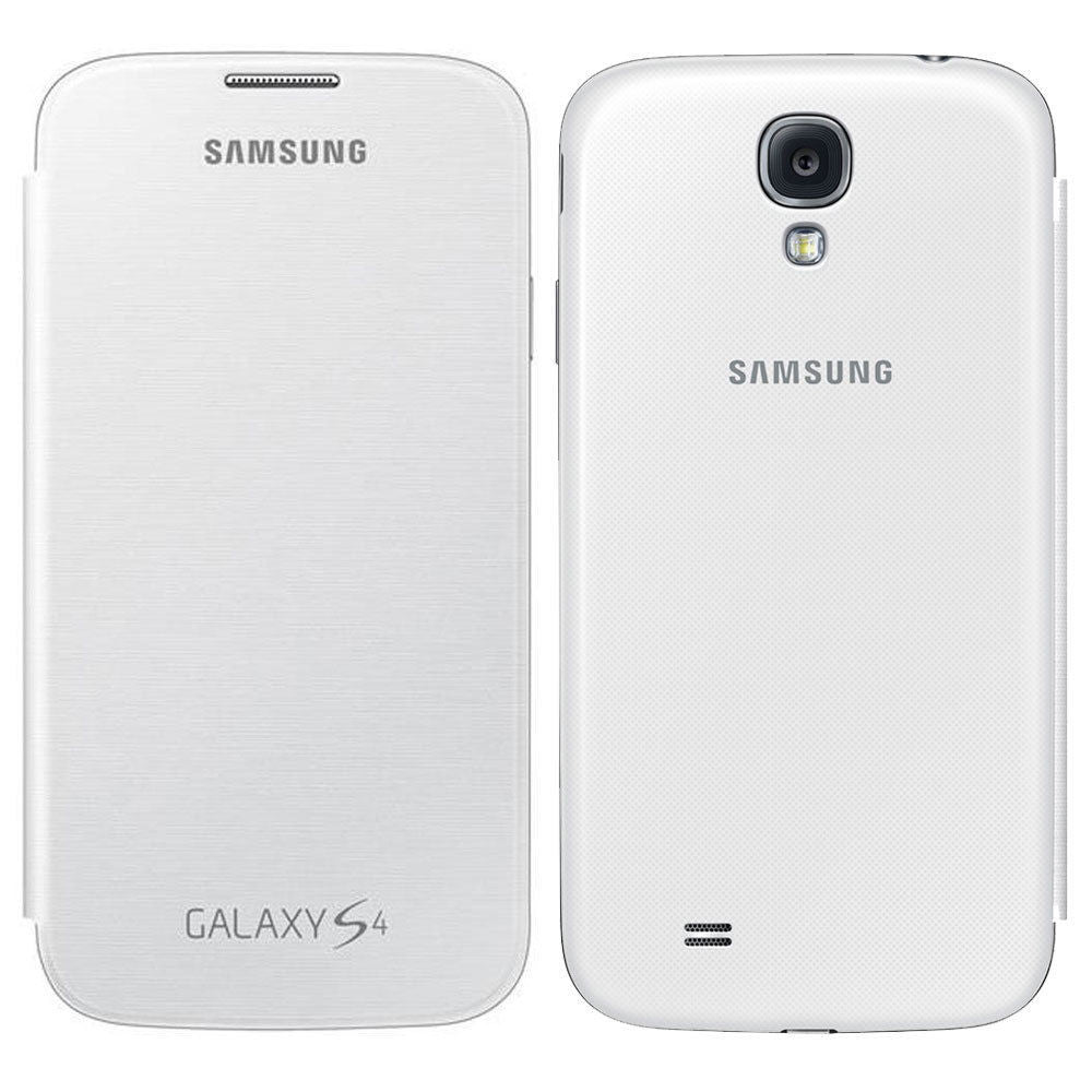 new styles a4b1a c7620 Official Samsung Galaxy S4 i9500 i9505 Flip Case Cover - White EF-FI950BWEG