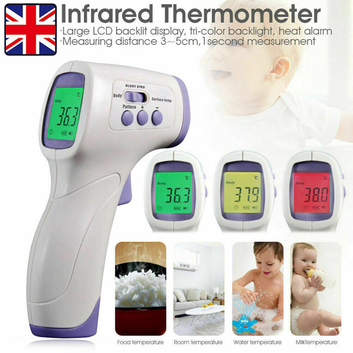 Digital Infrared Thermometer Non-Contact IR Temperature Measurement Forehead Gun