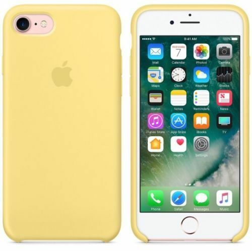 Official Apple iPhone 7 iPhone 8 iPhone SE 2020 Silicone Back Case Cover - Pollen Yellow