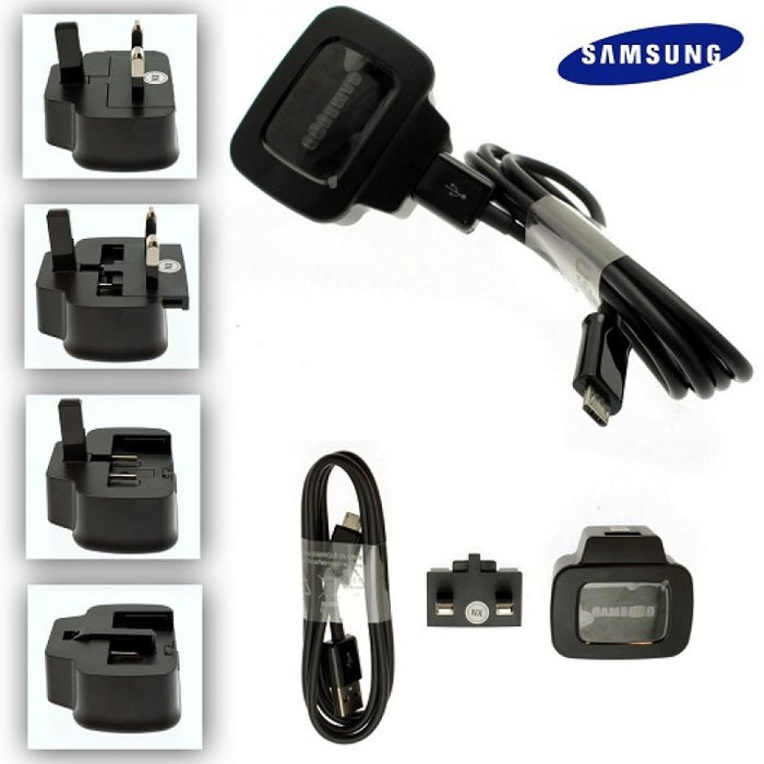 Official Samsung Galaxy S3 Black Charger + Black Cable - ETAOU71XBE + ECC1DU4BBE