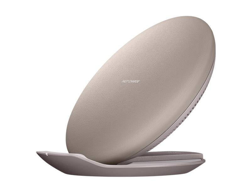 Official Samsung Galaxy Fast Wireless Charger - Couch Brown