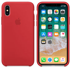 Genuine Apple iPhone X iPhone XS Silicone Back Case Cover - Product Red