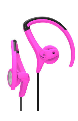 Skullcandy Chops Swivel Bud Earphones - Hot Pink/Grey