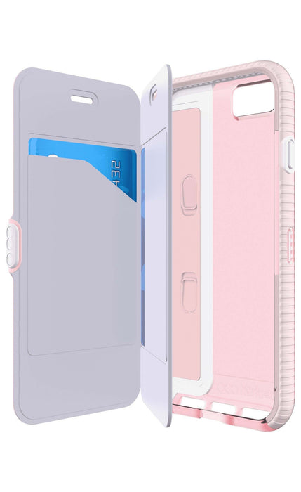 finest selection 0f06c dfb55 Tech21 Evo Wallet Case with FlexShock for Apple iPhone 8 7 6 6S- Light Rose