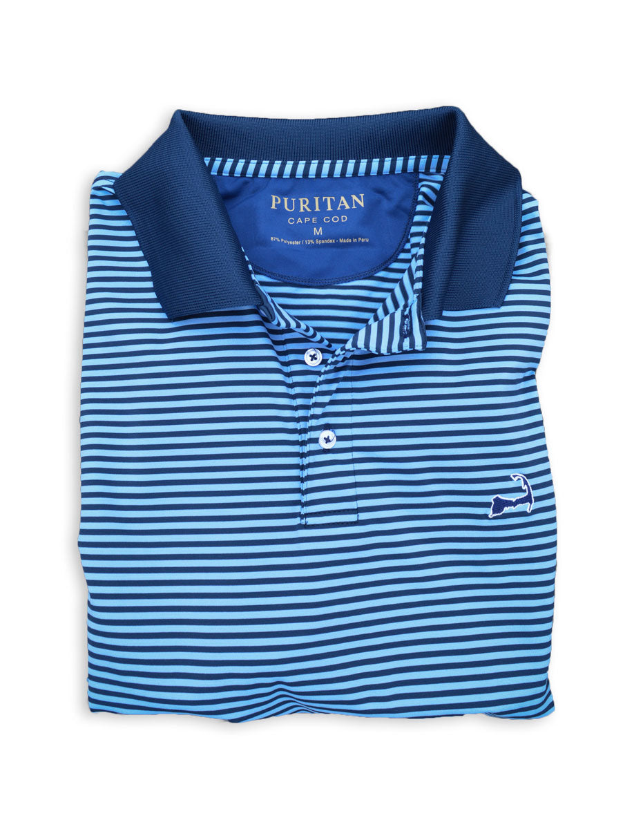 Ocean Stripe Cape Cod Polo