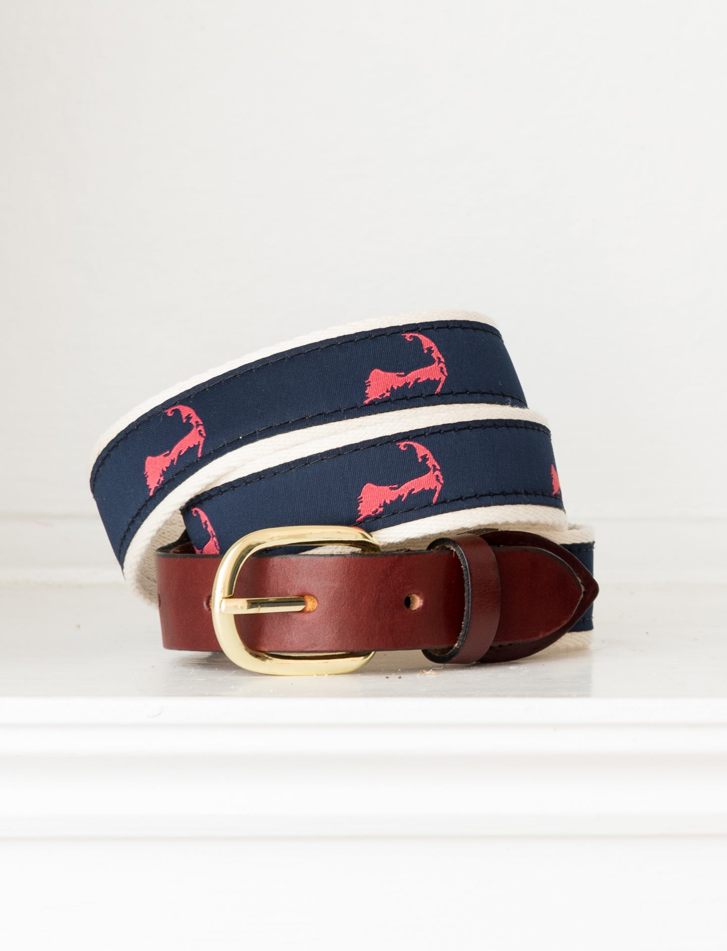 Cape Cod Map Belt: Red