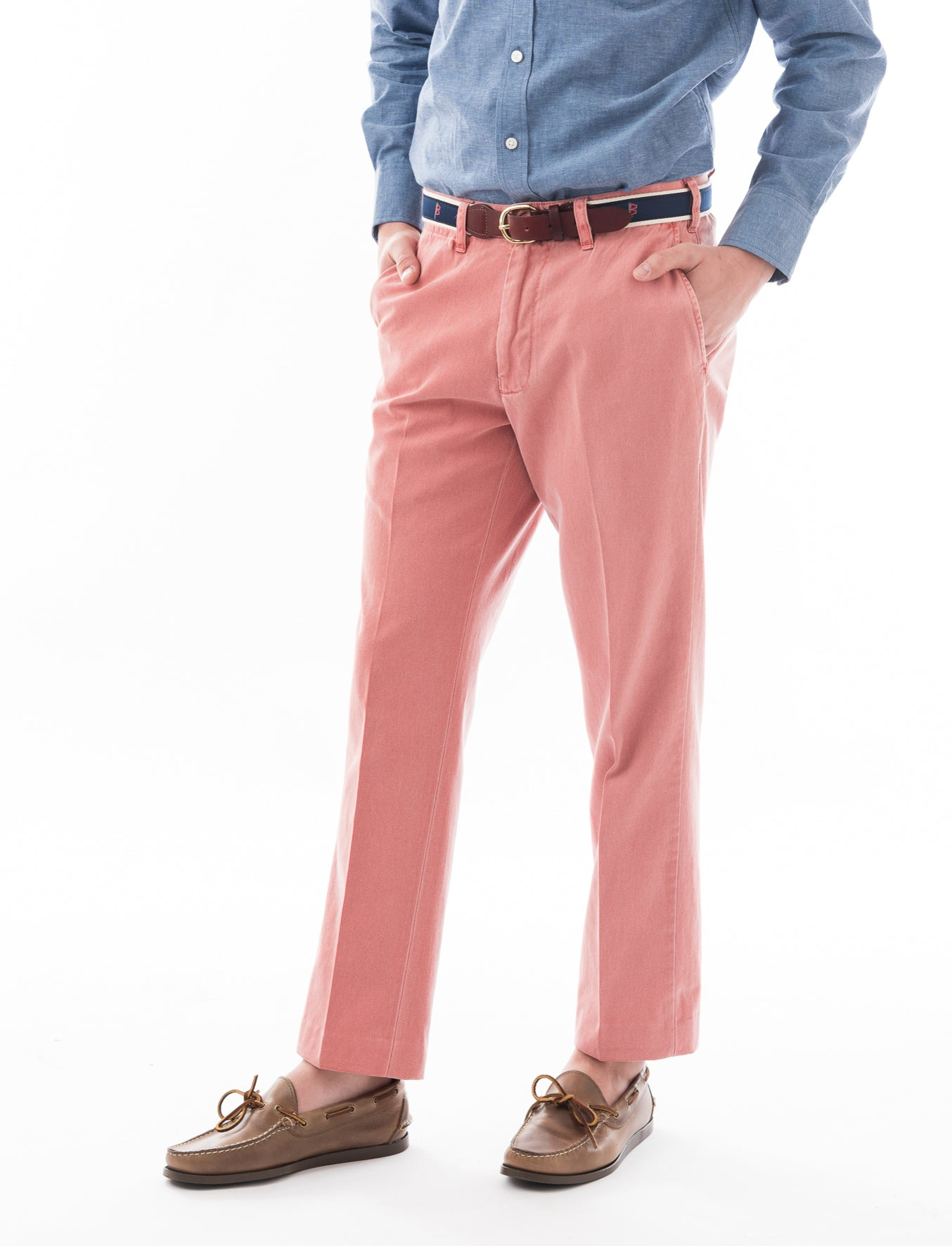 Chatham Chino Signature Pant: Regatta Red