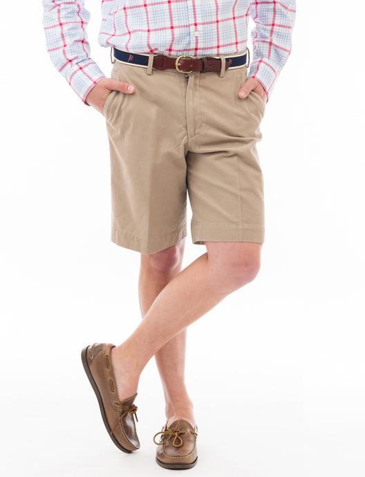 Chatham Chino Signature Short: Khaki