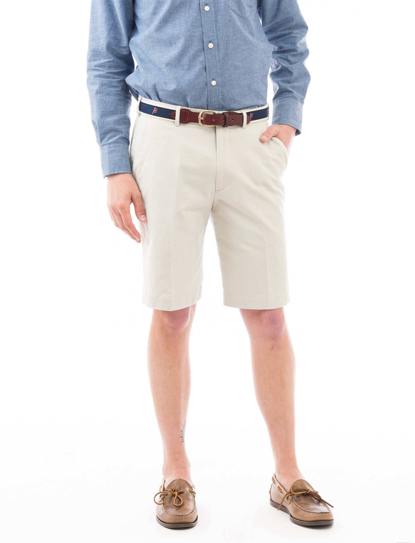 Chatham Chino Signature Short: Stone