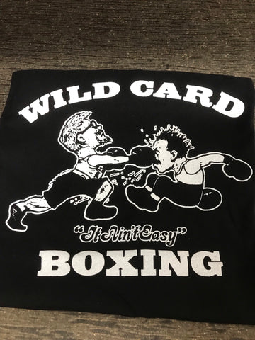 **New** KIDS Original Wild Card Boxing TShirt - Black/White