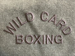 **New** Wild Card Boxing Gray Canvas Duffel Bag