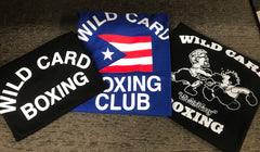 KID'S Old School Wild Card Boxing TShirt - Black/White