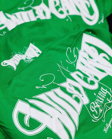 **SALE**Wild Card Boxing TAG TShirt - Green/White