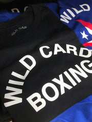 KIDS Old School Wild Card Boxing TShirt - Black/White