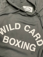 **NEW**Old School Wild Card Boxing Hoodie - Gray/White