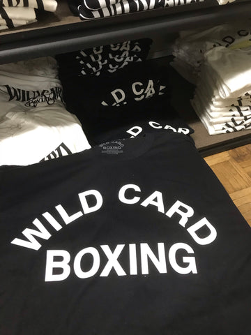 Old School Wild Card Boxing TShirt - Black/White