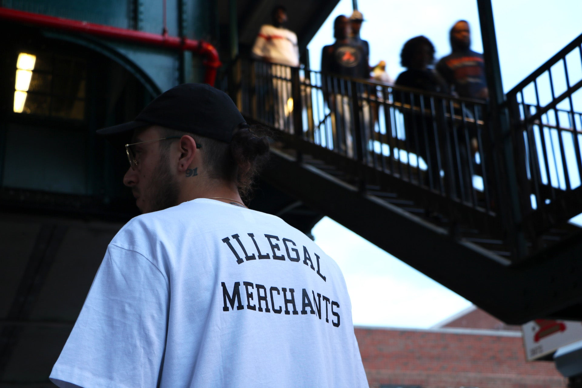 ILLEGAL MERCHANTS BACK TEE V4NY BRONX NY