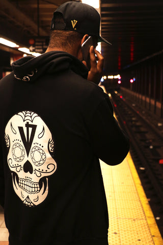 Sugar Skull Hoody Available in Black for Men and Women