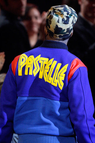 Kanye West Rocking the Pastelle Varsity Jacket