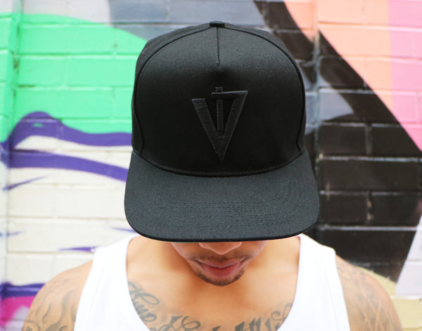 Trademark Black Out Snapback