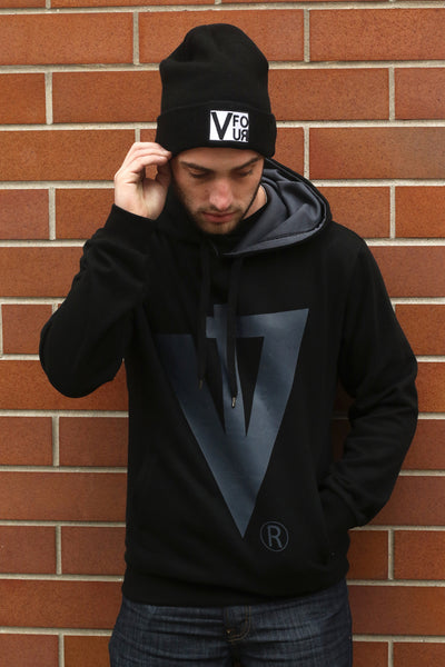 V FOUR Block Beanie and Trademark Pullover Hoody from the Genesis 2.0 Winter Collection