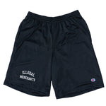 V4NY Illegal Merchants Champion Shorts Black Streetwear