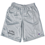 V4NY Illegal Merchants Champion Shorts Silver Streetwear
