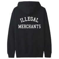 Illegal Merchants Black Hoodie (Back)