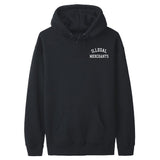 Illegal Merchants Black Hoodie (Front)